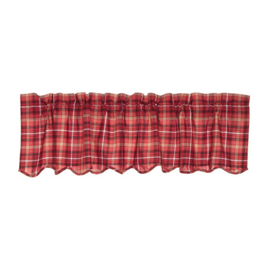 Rustic & Lodge Window Braxton Scalloped Valance