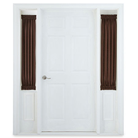 JCPenney Home Supreme Sheer Rod-Pocket Single Sidelight Curtain, One Size , Brown