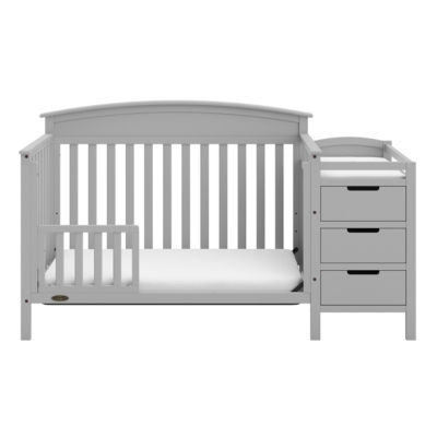 Storkcraft Benton 5-In-1 Convertible Crib And Changer - Pebble Gray Baby Crib