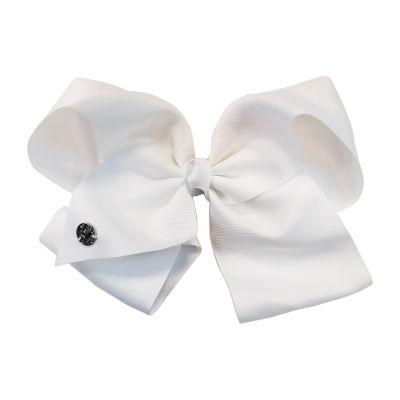 JoJo Siwa Large Signature Hair Bow Solid White Basic