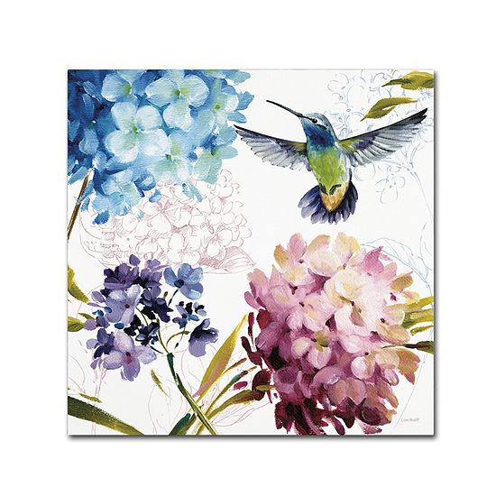 Trademark Fine Art Lisa Audit Spring Nectar SquareIII Giclee Canvas Art