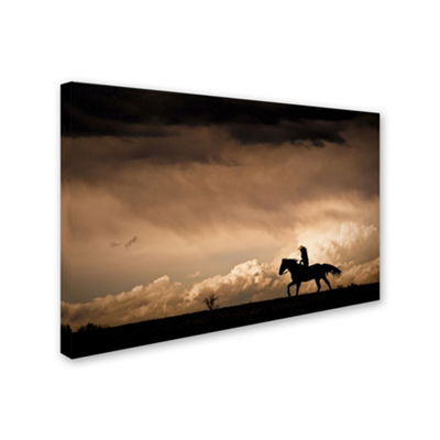 Trademark Fine Art Dan Ballard Ride the Storm Giclee Canvas Art