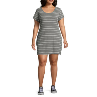Arizona Short Sleeve Bodycon Dress-Juniors Plus