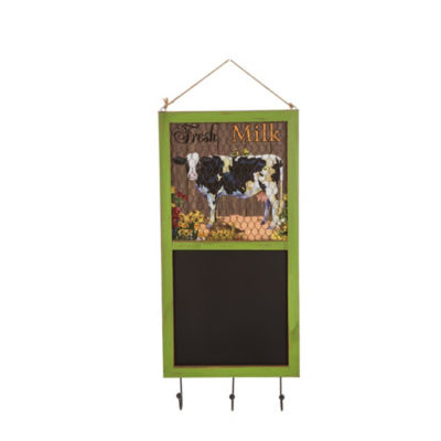 Wooden Farmhouse Chalkboard with Hooks