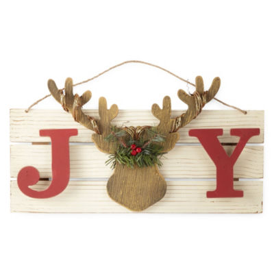 North Pole Trading Co. Joy Reindeer Wall Sign
