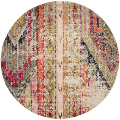 Safavieh Monaco Collection Cedric Abstract Round Area Rug