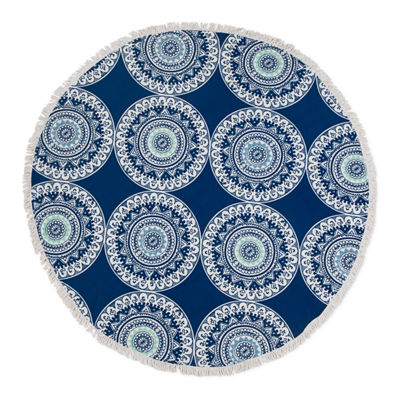 Seaside Living Round Medallion Beach Towel