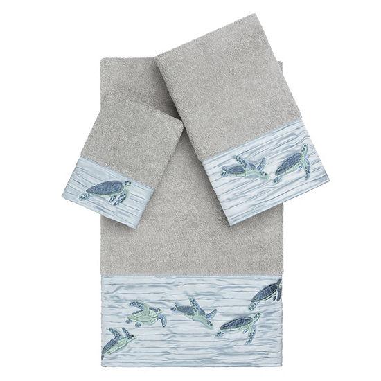 Linum Home Textiles 100 Turkish Cotton Mia 3pc Embellished Towel Set