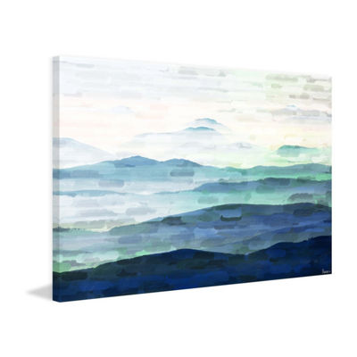 Mountain Tops Painting Print on Wrapped Canvas