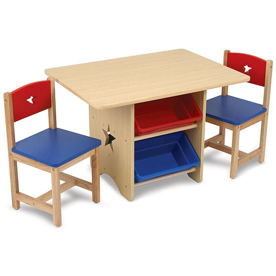 Groovy Kidkraft Table And Chairs Natural With Primary Colors Cjindustries Chair Design For Home Cjindustriesco