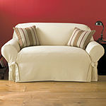SURE FIT® Cotton Duck 1-pc. Loveseat Slipcover
