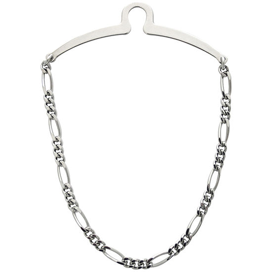 Rhodium-Plated Tie Chain