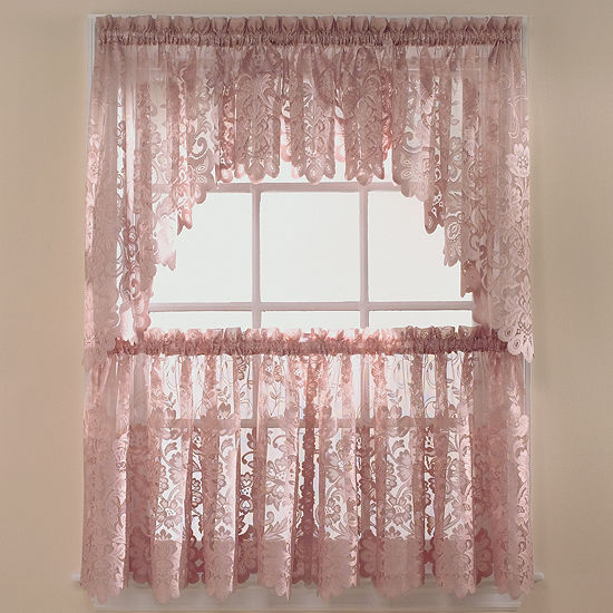 Jcpenney Home Sale: JCPenney Home™ Shari Lace Rod-Pocket Shaped Valance