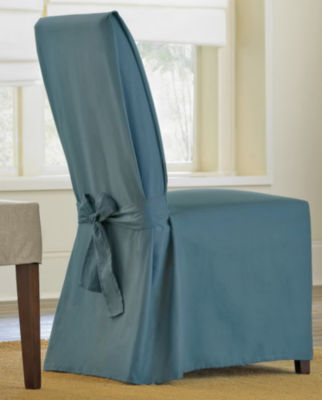 SURE FIT® Cotton Duck Dining Chair Slipcover   Long