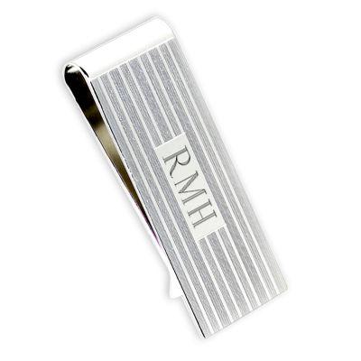 Silver Engravable Money Clip