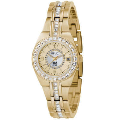 Relic® Womens Gold-Tone Bracelet Watch ZR11778