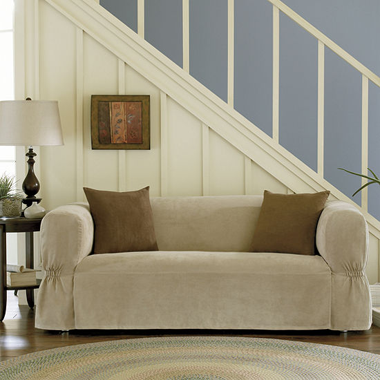 Maytex Smart Cover® Relaxed Fit Suede 1 Piece Loveseat Furniture Cover Slipcover