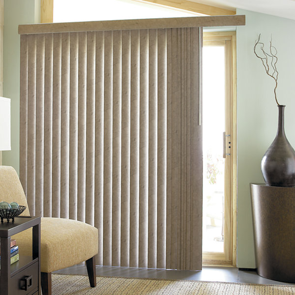 JCPenney Home Suede Look Vinyl Vertical Blinds