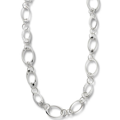 Worthington® Silver-Tone Circle Link Long Necklace