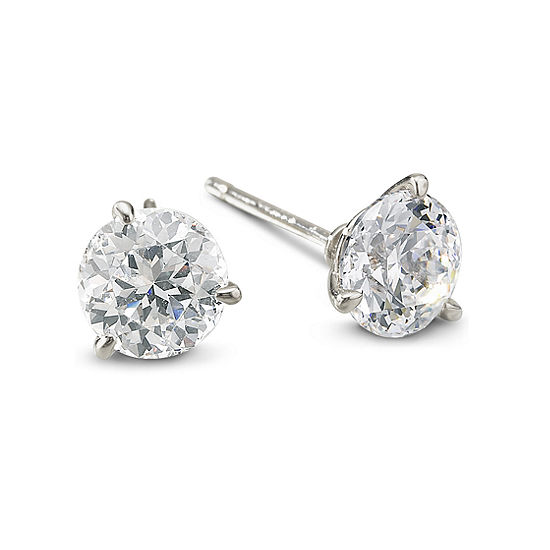 T W Cubic Zirconia Stud Earrings