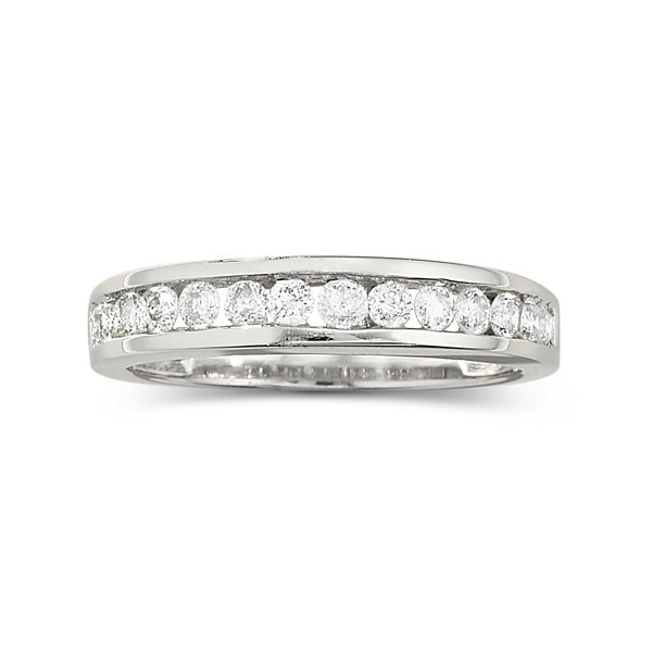 1/2 CT. T.W. Diamond Band 10K White Gold