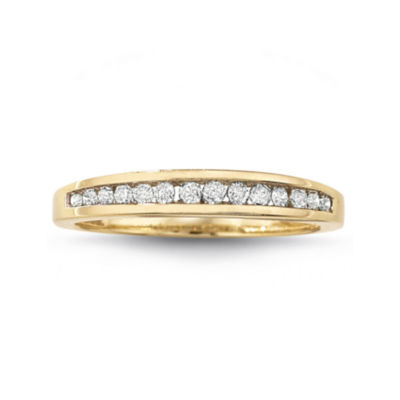 14 CT TW Diamond 10K Gold Wedding Band JCPenney