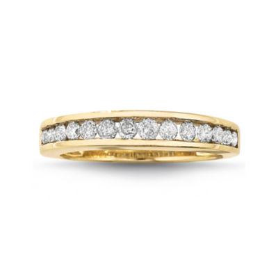 1/2 CT. T.W. Diamond 10K Gold Wedding Band