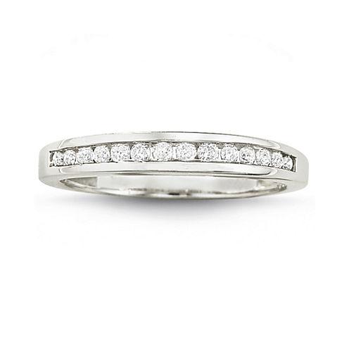 1/4 CT. T.W. Diamond 10K White Gold Band