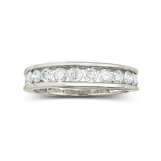 1 Ct T W Diamond 10k Wedding Band