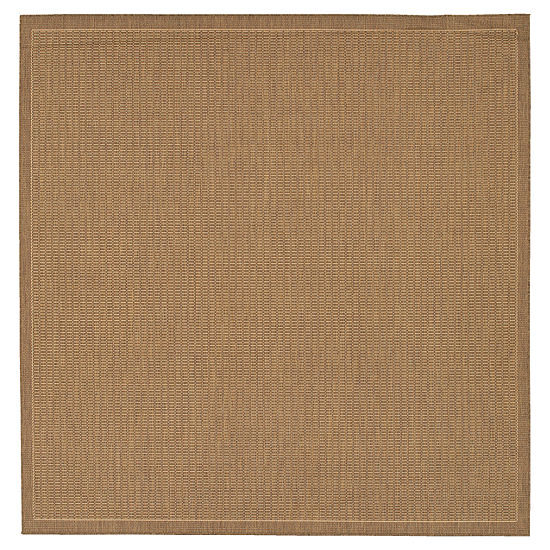 Couristan® Saddle Stitch Indoor/Outdoor Square Rug