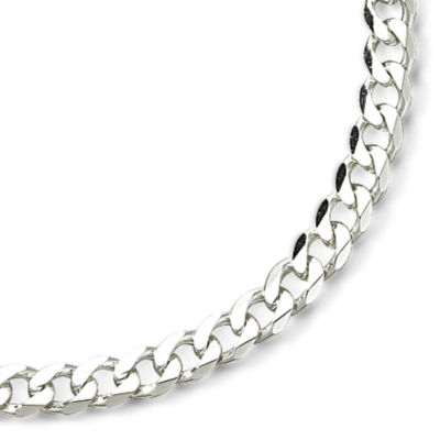 "Made in Italy Sterling Silver 22"" 7mm Curb Chain"