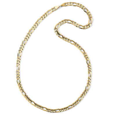 "Men's 10K Gold 22"" 6.5mm Figaro Necklace"