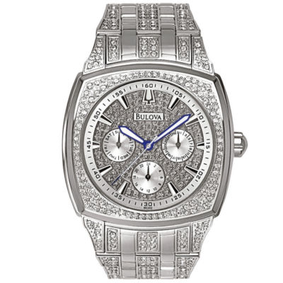 Bulova® Mens Crystal-Accent Watch