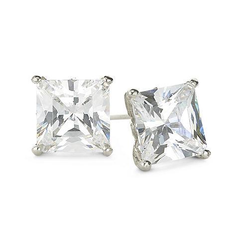 DiamonArt® Sterling Silver 2⅜ CT. T.W. Cubic Zirconia Stud Earrings