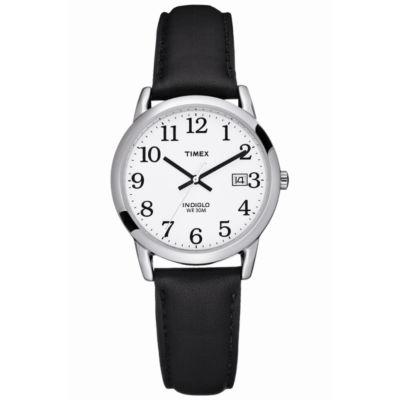 Timex® Easy Reader Mens Black Strap Watch