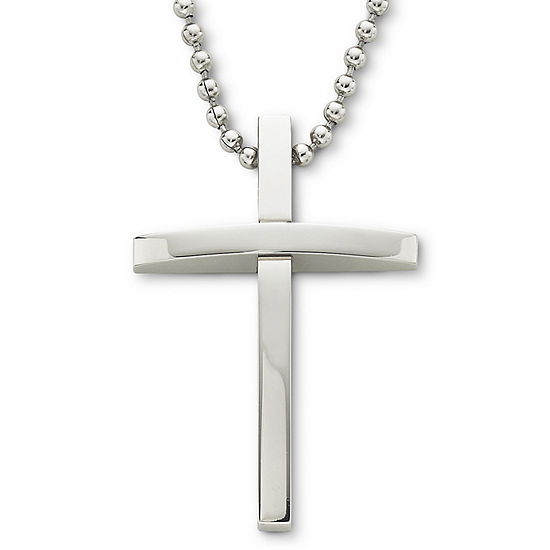 item gold necklaces titanium stainless silver enviromental west cross style thick choker steel byzantine for pendant tone christos men necklace christs chain link jesus