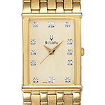 Bulova Mens Gold Tone Bracelet Watch-97f52