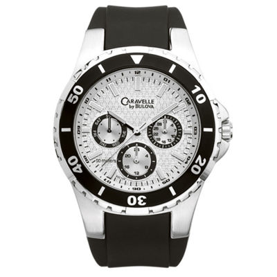 Caravelle New York Mens Black Strap Watch-45c102