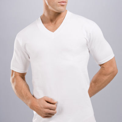 Stafford® 4-pk. Heavyweight V-Neck T-Shirts
