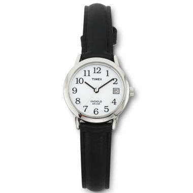 Timex® Easy Reader Womens Black Strap Watch
