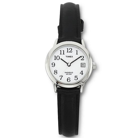 Timex® Easy Reader Womens Black Strap Watch