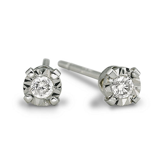 42b2343db Diamond Accent Stud Earrings 10K White Gold JCPenney