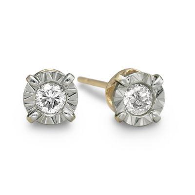 1/5 CT. T.W. Round Diamond Studs 10K Yellow Gold