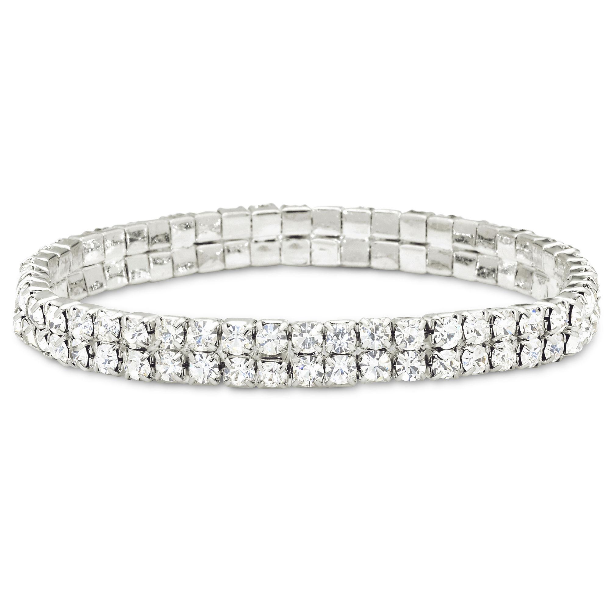 Vieste Crystal Stretch Bracelet