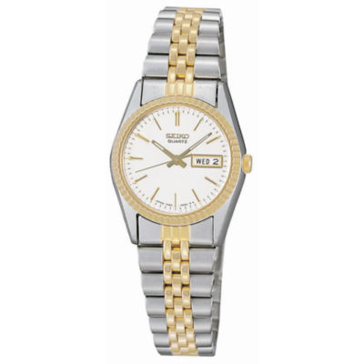Seiko® Women's Stainless Steel Two-Tone Watch SWZ054