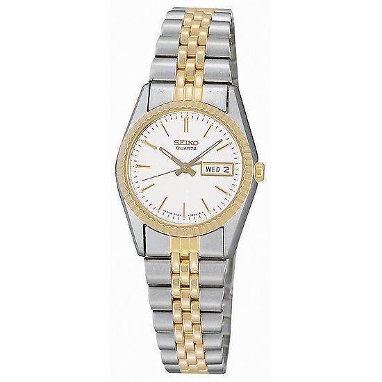 Seiko® Women's Stainless Steel Two-Tone Watch SWZ054