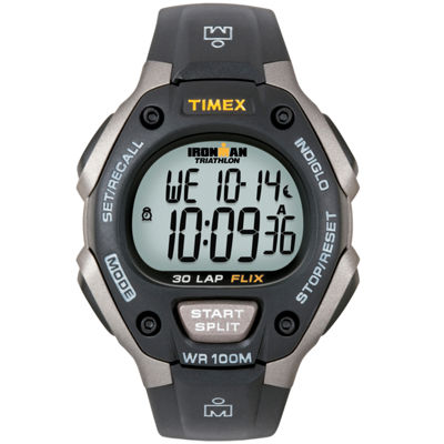 Timex® Ironman Mens Black Digital Chronograph Watch 5E901