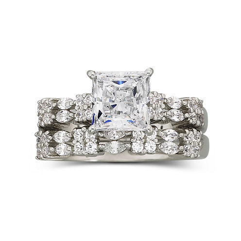 DiamonArt® 2.1 CT. T.W. Cubic Zirconia Bridal Set