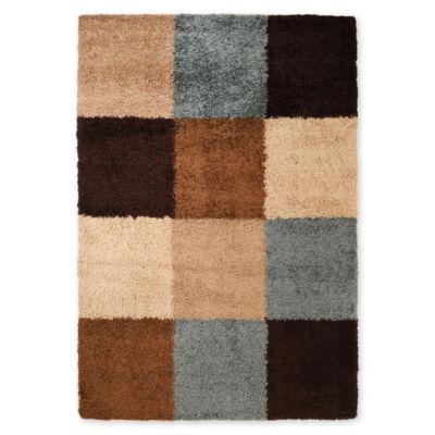 Concepts Squares Shag Rectangular Rug