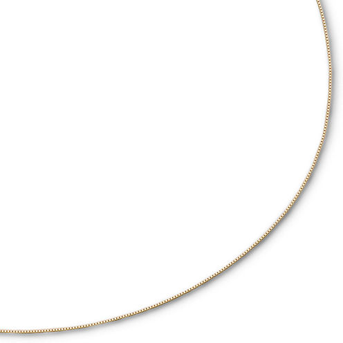 """Made in Italy 14K Gold 16-18"""" .5mm Venetian Box Chain"""
